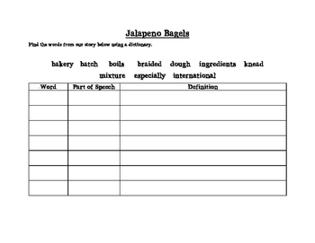 Jalapeno Bagels Vocabulary Search
