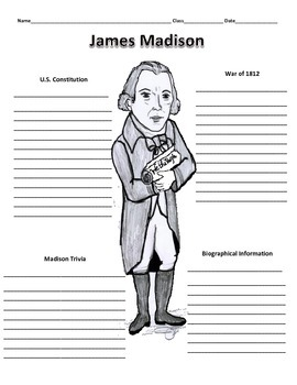 4th President - James Madison Graphic Organizer