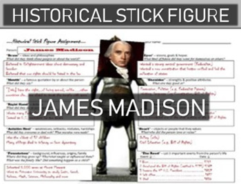 James Madison Historical Stick Figure (Mini-biography)