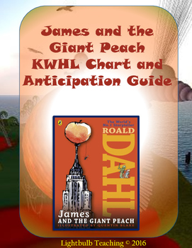 James and the Giant Peach Anticipation Guide and KWHL Chart