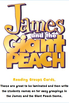 James and the Giant Peach Grouping Cards