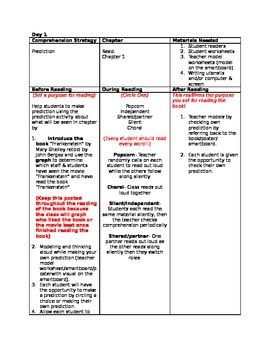 James and the Giant Peach Guided Reading Lesson Plans