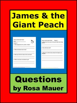 James and the Giant Peach Book Unit