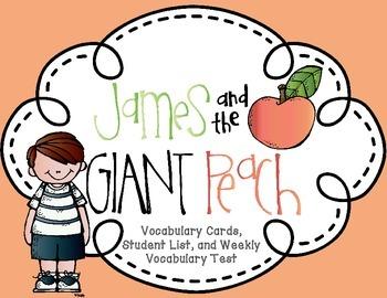 James and the Giant Peach Roald Dahl Complete Novel Vocabu