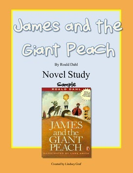 James and the Giant Peach Novel Study {Free Sneak Preview}