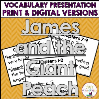 James and the Giant Peach Vocabulary Presentation