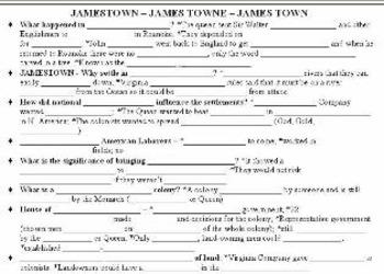 Jamestown Fill in the blank