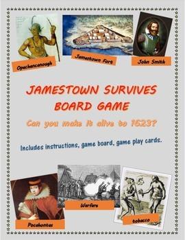 Jamestown Survives board game