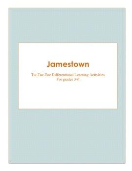 Jamestown Tic-Tac-Toe Differentiated Activities