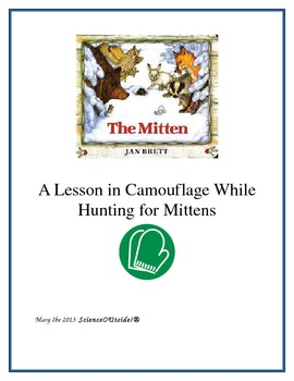 Jan Brett The Mitten Camouflage Game for Hunting Mittens