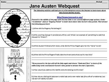 Jane Austen Webquest