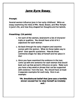 Jane Eyre Essay prompt