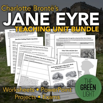 Jane Eyre Worksheets, Handouts, Projects, Activities, Less