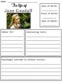 Jane Goodall Organizers