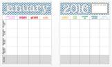 January 2016 Editable Curriculum Planning Calendar