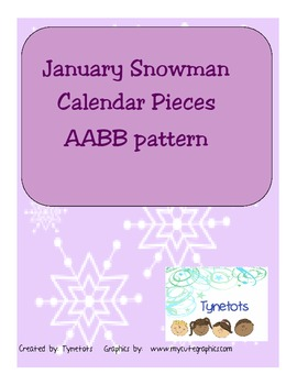 January AABB pattern calendar pieces