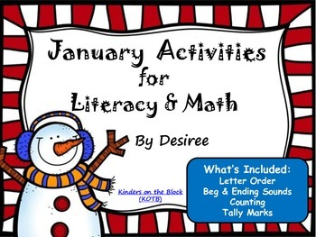 January Activities for Literacy & Math