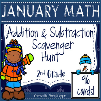 January Addition and Subtraction Scavenger Hunt