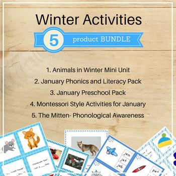 January Activities Bundle (Winter theme)