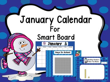 January Calendar For Smart Board