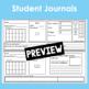 January Calendar Math Student Journal