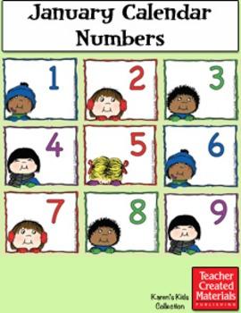 January Calendar Numbers by Karen's Kids (Digital Download)