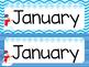 January Calendar Set