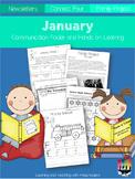 January Communication Folder and Homework Packet