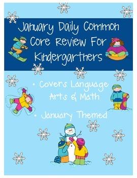 January: Daily Common Core Morning Work or Homework for Ki