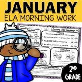 January Daily Language (2nd Grade) -  morning, homework or