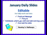 January Daily Slides - Editable