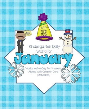 January Daily Work for Kindergarten Common Core (And More!
