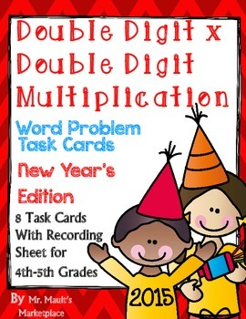 January Double Digit times Double Digit Multiplication Wor