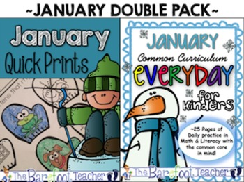 January Math & Literacy Activities: A Double Bundle Pack