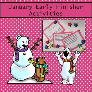 January Early Finish Enrichment & Challenge Task Cards