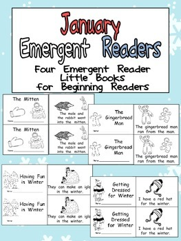 January Emergent Readers - A Book for Each Week- Winter, T