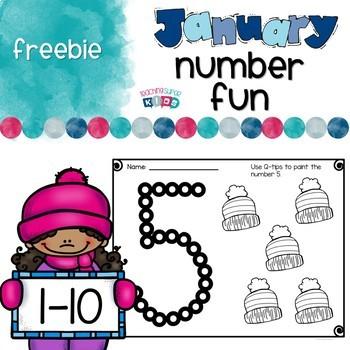 January Numbers FREEBIE