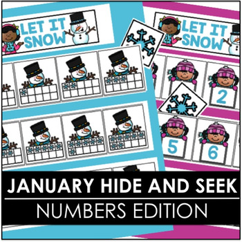 January Hide and Seek - Numbers Edition