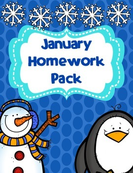 January Homework Pack