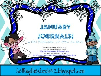 January Journals-22 Differentiated and Common Core Aligned