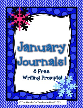 January Journals: 5 Free Writing pages