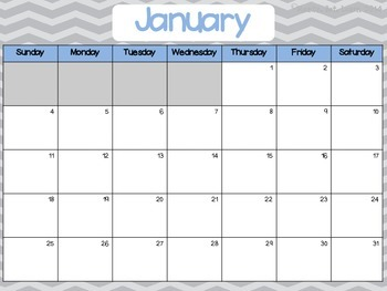 January - June 2015 Chevron Monthly Calendars