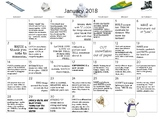 12 MONTHS of Early Learning Activity Calendars-January-Dec