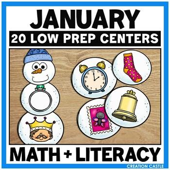 January Kindergarten Centers - Math and Literacy