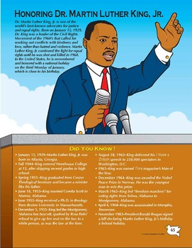 Black History Month / Martin Luther King Day / MLK Day Act