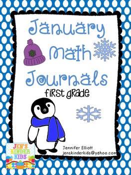 January Math Journals {First Grade}