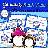 January Math Mats {second grade}