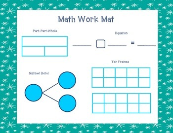 January Math Work Mat