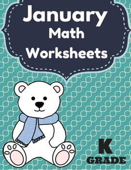 January Math Worksheets & Centers for Kindergarten (Englis