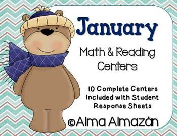 January Math and Reading Centers-Winter Theme